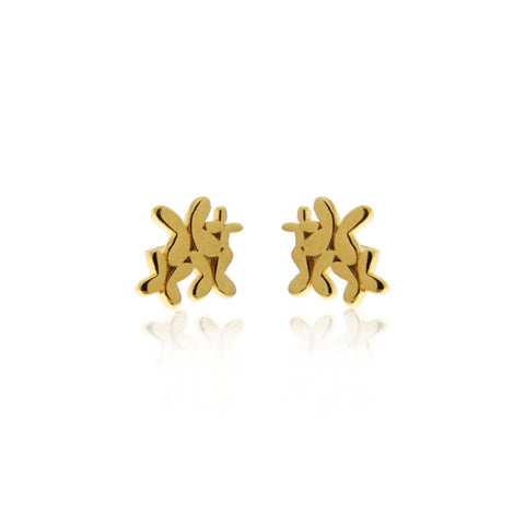 Gold Multi Butterfly Earrings