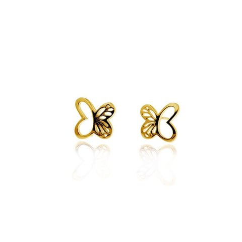 Vermeil Silver Mini Monarch Stud Earrings