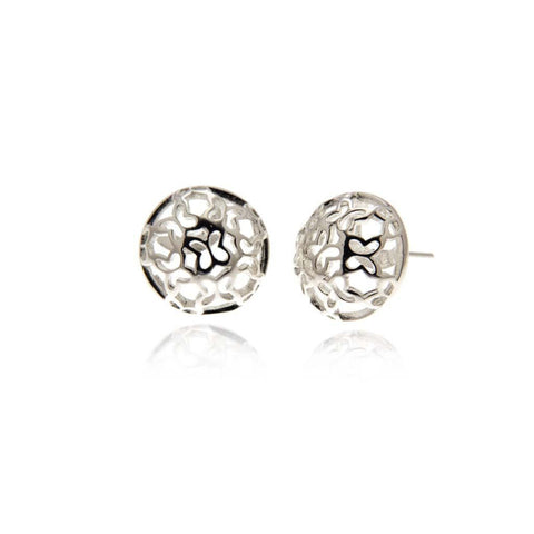 Piara Silver Stud Earrings