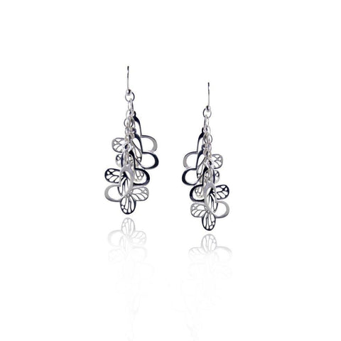 Mini Monarch Silver Cascade Earrings
