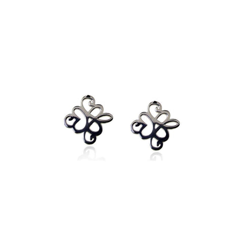 Mirabell Silver Stud Earrings