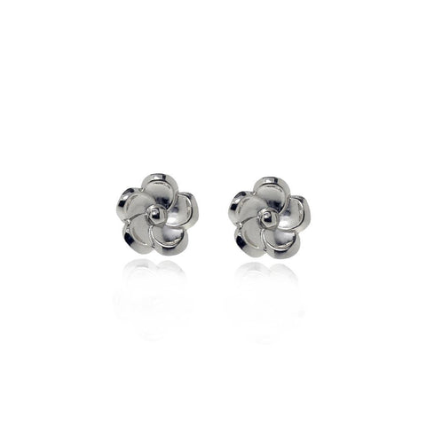 Forget Me Not Silver Stud Flower Earrings