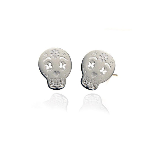 Skull Silver Stud Earrings