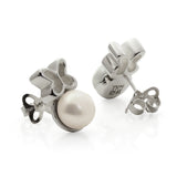 Sterling Silver Butterfly Studs with Pearl