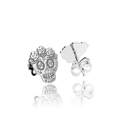 Sterling Silver Mexican Catrina Studs