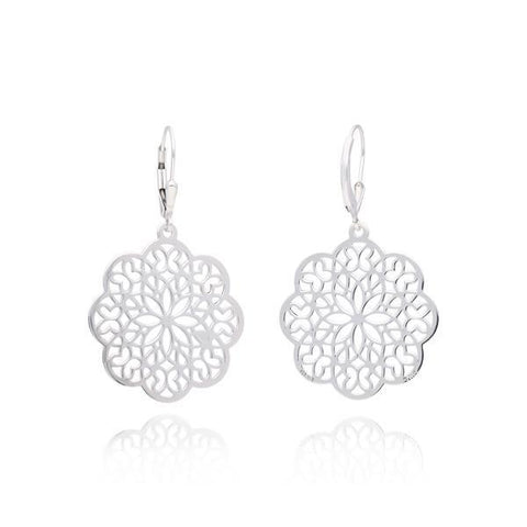 Zen Sterling Silver Sacred Geometry Earrings