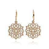 Zen Sterling Silver Earrings Mandala Earrings