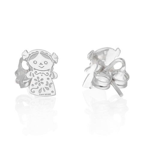 Maria Sterling Silver Doll Studs