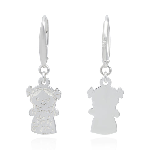 Maria Sterling Silver Doll Earrings