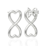 Endless Heart Sterling Silver Earrings