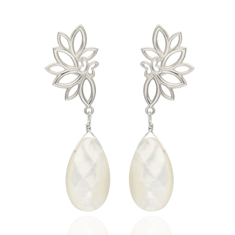 Paradise Sterling Silver Earrings with Mother of Pearls