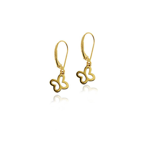 14k Gold Butterfly Silhouette Earrings