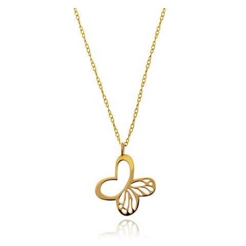 14k Gold Monarch Butterfly Pendant