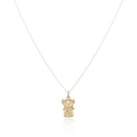 Maria 14 K Gold Mini Doll Pendant