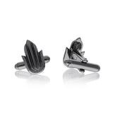 Black Rhodium Moss Hamsa cufflinks