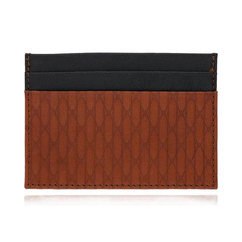 Leather Moss Cardholder (tan/black)