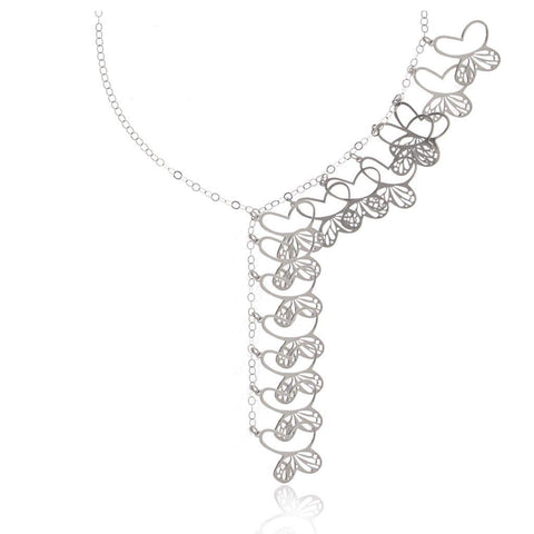 Monarch Cascade Silver Necklace