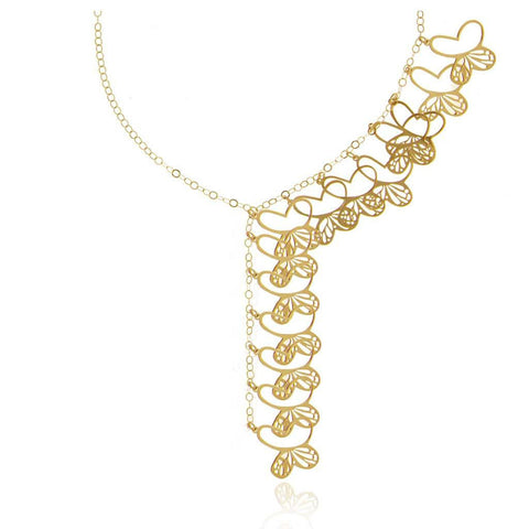 Monarch Cascade Vermeil Silver Necklace