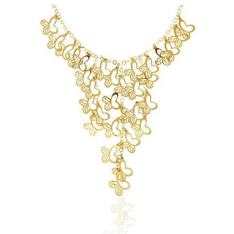 Mini Monarch Caascade Vermeil Silver Necklace