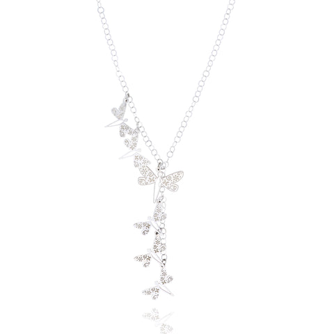 Sterling Silver Mexicanized Dragonfly Necklace