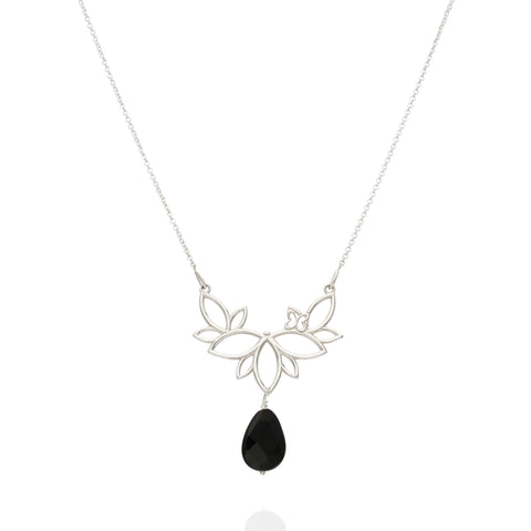 Paradise Sterling Silver Necklace With Onix