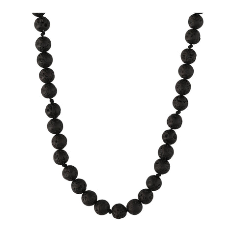 Volcanic Rock Long Necklace - N2205