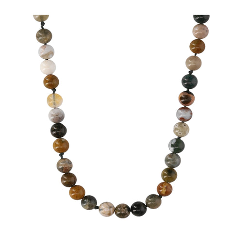 Ocean Jasper Agate Short Necklace - N2206