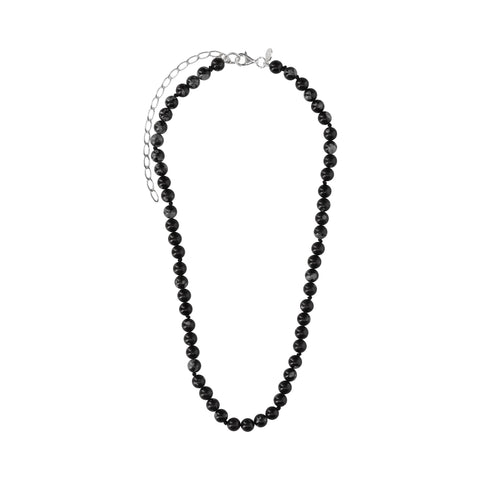 Snowflake Obsidian Short Necklace - N2209