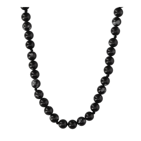 Snowflake Obsidian Long Necklace - N2211