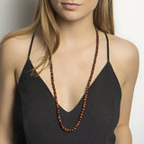 Red Tiger Eye Long Necklace - N2214
