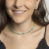 Faceted Turquoise Short Necklace - N2221