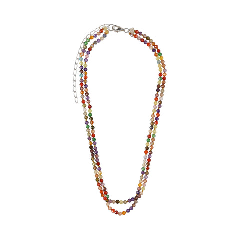 Double Multicolor Zirconia Short Necklace - N2227