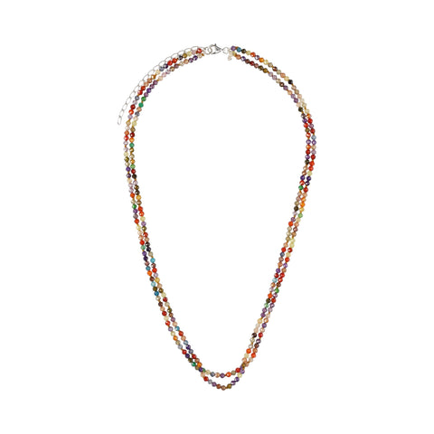 Double Multicolor Zirconia Medium Necklace - N2228