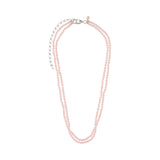 Double Pink Quartz Short Necklace - N2236