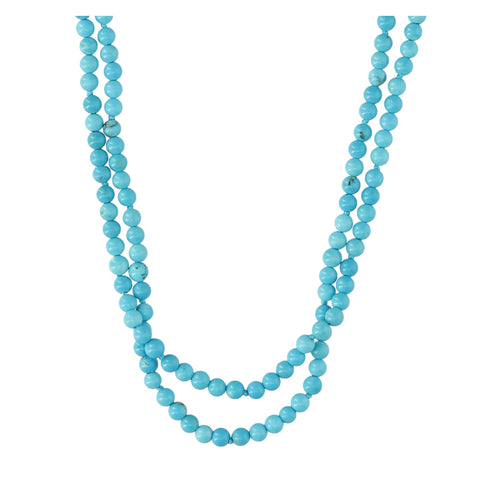 Double Turquoise Short Necklace - N2238