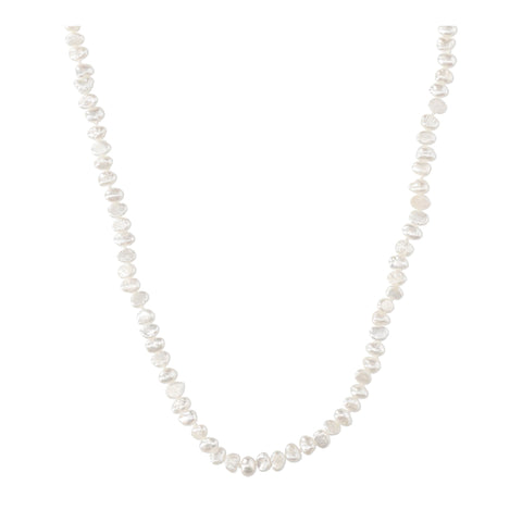 White Pearl Long Necklace - N2241