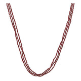 Triple Garnet Short Necklace - N2244