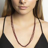 Triple Garnet Medium Necklace - N2245