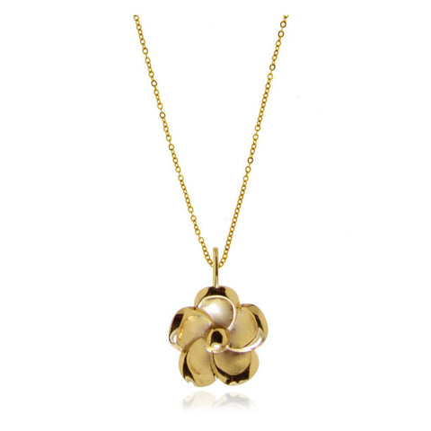 Forget-Me-Not Flower Vermeil Silver Pendant