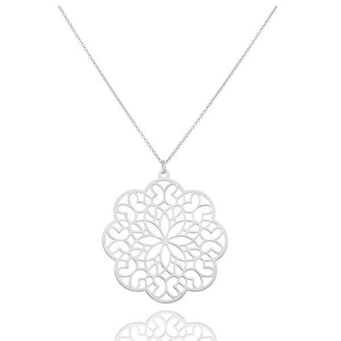 Zen Sacred Geometry Sterling Silver Large Pendant