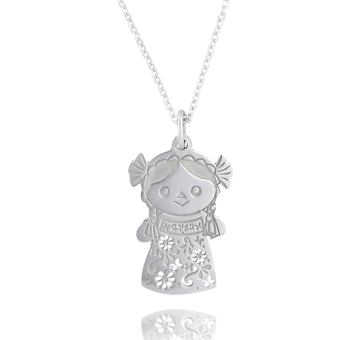 Maria Sterling Silver Big Doll Pendant