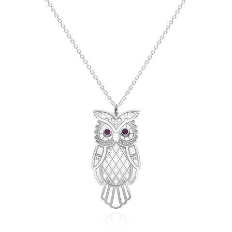Mexicanized Mysticism Large Owl Sterling Silver Pendadnt