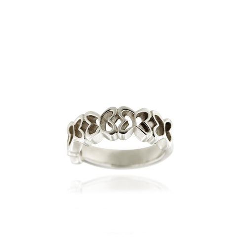 Silver Butterflies Band Ring