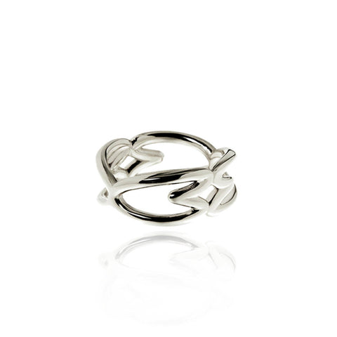 Cuore Silver Ring