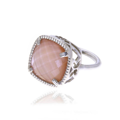 Boreal Silver Ring with Pink Mother Pearl