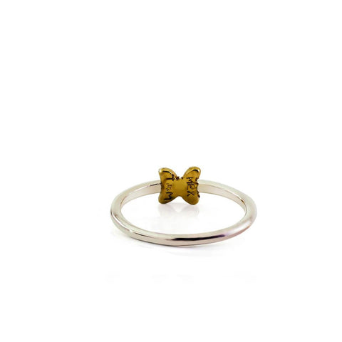 Soleil Small Vermeil Silver Butterfly Ring
