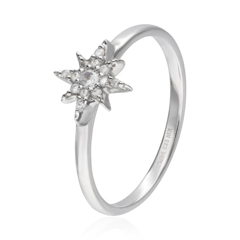 Star Ring with Zirconia Pave