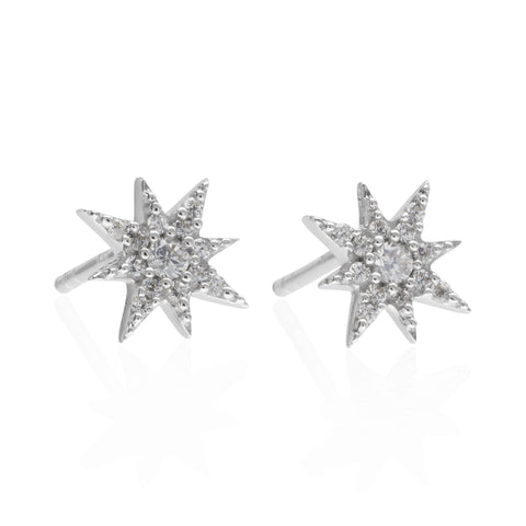 STARS EARRINGS WITH ZIRCONIA PAVE