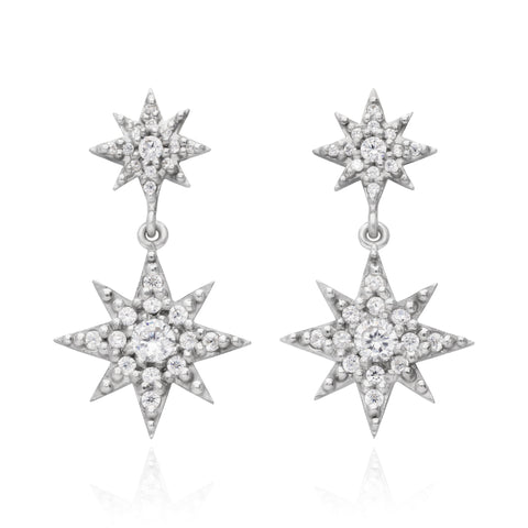 Double Star Earrings