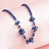 Blue Sapphire Necklace with Drops